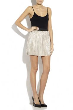 Ladies Short Length Metallic Skirt